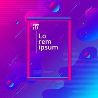 Composition géométrique colorée de forme liquide et fluide