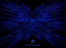 Lignes bleues de perspective de connexion de données de technologie vecteur