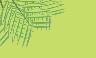 Papier coupé des feuilles vertes sur fond vert vecteur