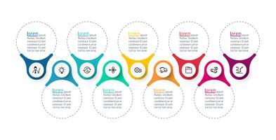 Bague infographie en anneau vecteur