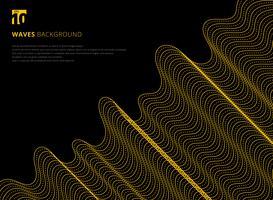 Modèle futuriste de lignes ondulées abstraites vecteur