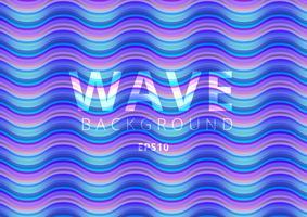 Modèle liquide de flux coloré moderne Wave