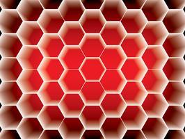 Conception hexagone en nid d'abeille vecteur