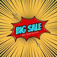 Modèle de promotion de vente abstraite vecteur