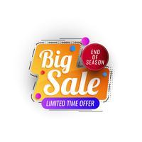 Badge de promotion de vente abstrait vecteur