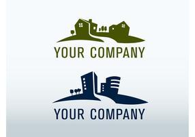 Logo immobilier vecteur