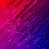 Rayons laser rouges et bleus lumière et effets de lumière fond diagonal vecteur
