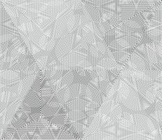 Lignes géométriques monochromes vecteur