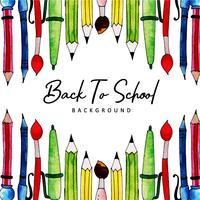 Outils d'aide à la rédaction Aquarelle Back To School Background