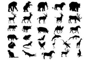 Vecteurs de silhouette animale étonnante vecteur