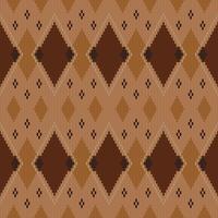 Motif géométrique tricoté avec diamants répétés