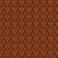 Tricot géométrique avec des triangles