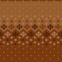 Modèle tricoté géométrique avec des flocons de neige répétés vecteur