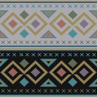 Motif tricoté ethnique coloré et géométrique