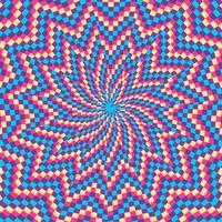 Fond de forme colorée Illusion optique