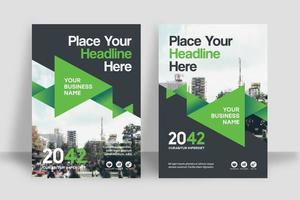 Modèle de conception de couverture de livre de ville fond d'affaires