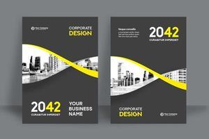 Modèle de conception de couverture de livre d'entreprise au format A4. Peut être adapté à la brochure, rapport annuel, magazine, affiche, présentation de l'entreprise, portfolio, dépliant, bannière, site Web.