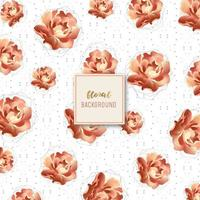Motif Floral Rose Doré