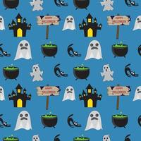 Motif fantôme sans couture Halloween vecteur