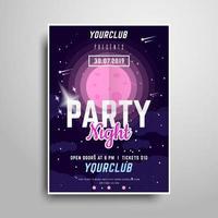 Modèle d'affiche Space Party vecteur