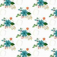 Design de fond floral géométrique