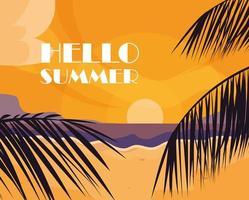 Palmiers et bonjour l'été