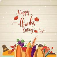Carte de voeux de joyeux thanksgiving