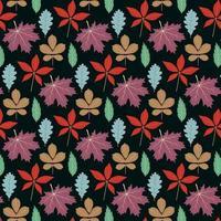 Design de fond feuille d'automne vecteur