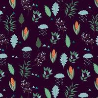 Design de fond d'automne sombre vecteur