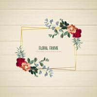 Cadre floral géométrique horizontal