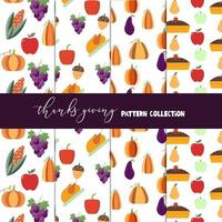 Collection de motifs pour Thanksgiving
