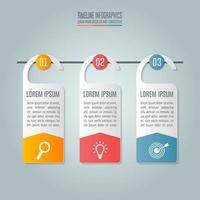 Concept d'entreprise avec 3 options, étapes ou processus.