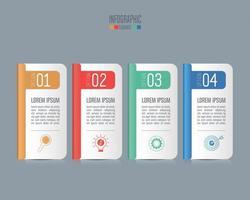 Concept d'infographie de la chronologie avec 4 options