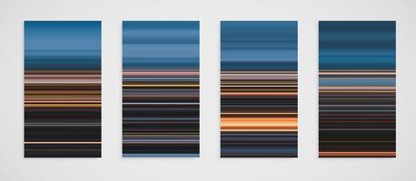 Ensemble coloré de motif de ligne vecteur