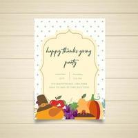 Invitation de fête de joyeux thanksgiving