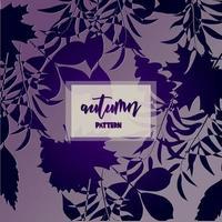 Dessin d'automne dégradé violet vecteur