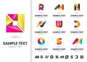 Lettres et formes vectorielles modernes vecteur
