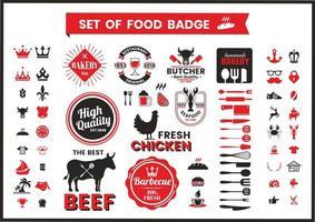 Restaurant Vintage Badges De Cuisine vecteur