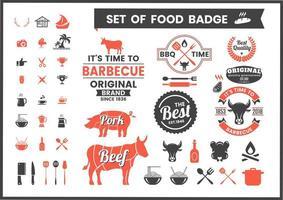 Restaurant Vintage Badges De Cuisine