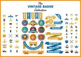 Collection de badges vintage vecteur