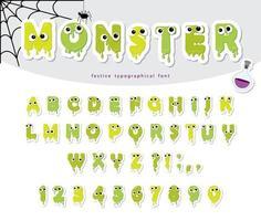 Papier de monstre d'Halloween découpé vecteur
