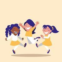 jeunes filles célébrant