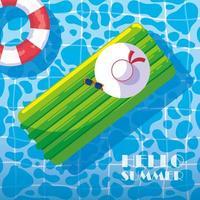 Les indispensables de la piscine d'été vecteur