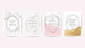 Set de cartes d'invitation de mariage de luxe