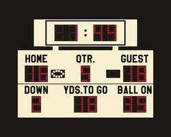 Tableau de pointage de football américain à LED avec données entièrement modifiables, minuterie et espace pour les informations des utilisateurs