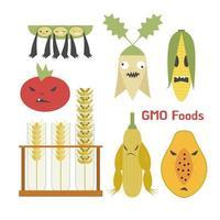 Des plantes nuisibles au génie génétique. vecteur