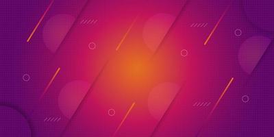 Fond de formes géométriques abstraites orange rouge vecteur