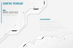 Modèle numérique de technologie abstraite blanc