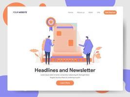 Newsletter numérique Concept d'illustration
