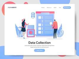 Concept d'illustration de collecte de données
